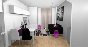 best salle a manger gris et prune images amazing house With salle a manger 12m2