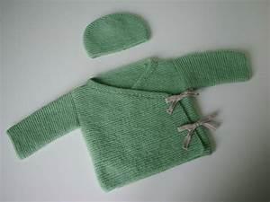 Modele De Tricotin Facile : tuto tricot brassiere kimono bebe facile et rapide easy ~ Melissatoandfro.com Idées de Décoration