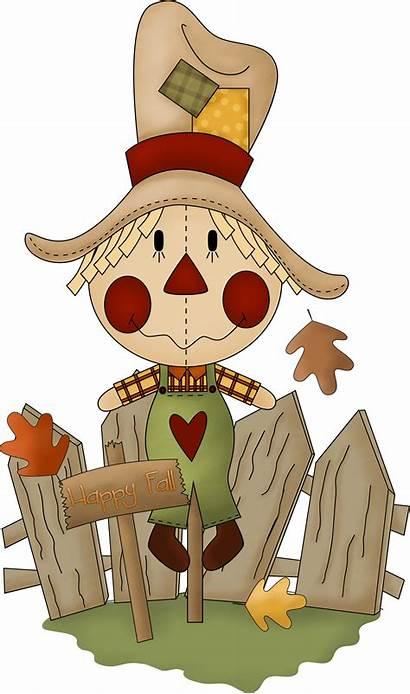 Fall Clipart Halloween Scarecrow Clip Kawaii Autumn