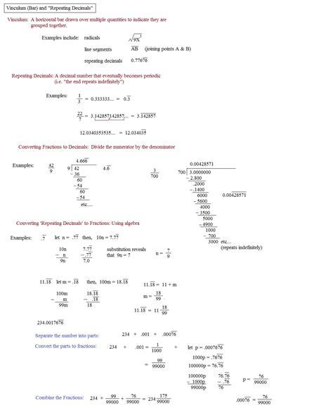 fraction to decimal conversion worksheet pdf metric