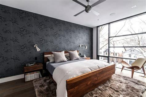 papier peint chambre a coucher papier peint noir 40 idées pour un design mural