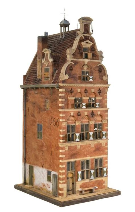 collectible buildings jj 23 24 a 17th century style canal house miniatures from the collection of cookie ziemba and the