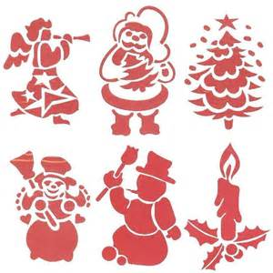 large christmas window stencils xmas decorations set of 6
