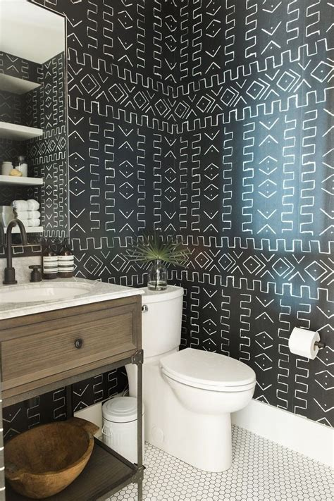 Wallpaper In Bathroom Ideas by 17 Best Ideas About Bathroom Wallpaper On Half