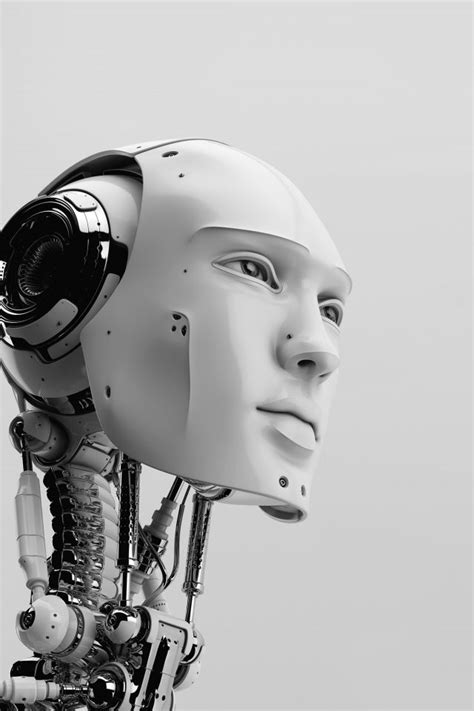 Ai Artificial Intelligence Art 3d Illustration Bw Dark
