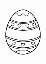 Easter Egg Coloring Eggs Printable Heart Colouring Printables Crafts 4kids Prinables Sheets Bunny Clip Vampire Halloween Template Cool Coloringpagesonly Ornaments sketch template