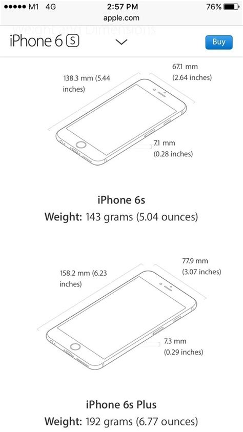 Does the iPhone 6s have the same size dimension as the