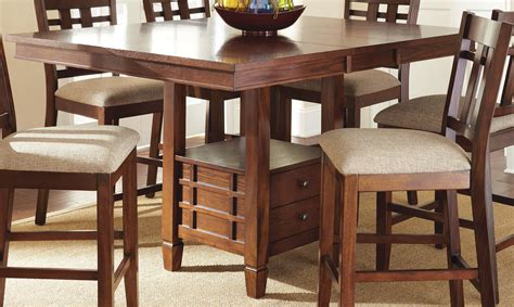 bolton extendable square counter height storage dining