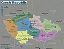 Map of Czech Republic (Regions) : Worldofmaps.net - online ...