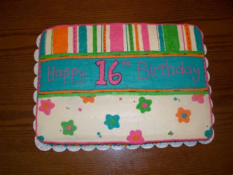 Your sixteenth birthday is coming up, and your friends are pushing you to throw an exciting sweet sixteen birthday party. Cakes by Jenn: Bright 16th Birthday