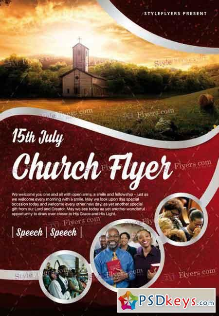 church psd flyer template   photoshop vector