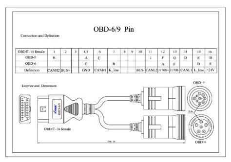 Xtool Obd Pin Truck Cable Diagnostic