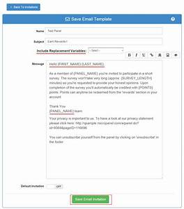 survey email invitation template diabetesmanginfo With email questionnaire template