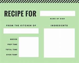 Make Free Online Flyers Free Online Recipe Card Maker Design A Custom Recipe Card