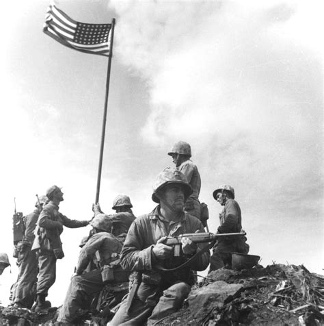 raise the siege he saw iwo jima flag raisings war tales