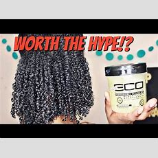 New Eco Styler Black Castor & Flaxseed Oil Gel Wash N' Go + Review Youtube