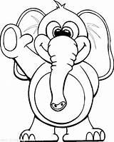 Elephant Coloring Pages Circus Waving Elephants Colouring Hand Through Printable Sheets Teaching Youth Colour Books sketch template
