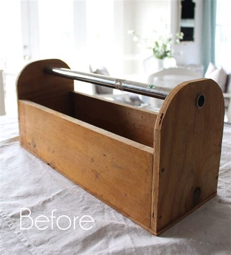 Coffee caddy for coffe beans or ground coffee. Tool Caddy Makeover   Coffee table redo, Repurposed wood, Crates