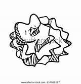 Paper Ball Crumpled Doodle Vector Shutterstock sketch template