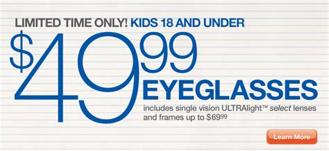 Sears Optical Promotions national eye month at sears optical a s take