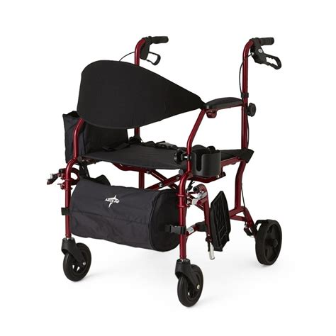 rollator transport chair medline combination rollator transport chair at