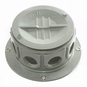 Super 50  8 Black Plastic  Surface Mount  Junction Box  Round  Kit