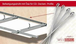 Schallschutz Decke Abhängen : sendraht f r ankerschnellabh nger g nstige baustoffe online ~ Frokenaadalensverden.com Haus und Dekorationen