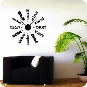 Wandtattoo Weltkarte Uhr : wandtattoo uhr text wandtattoo uhren ~ Sanjose-hotels-ca.com Haus und Dekorationen