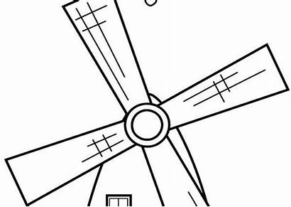 Coloring Pages Wind Turbine Windmill Windmills Getcolorings
