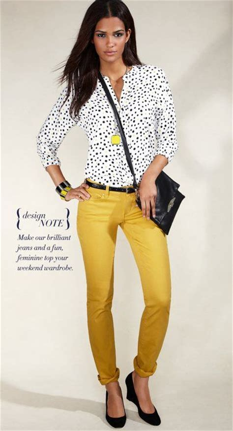Best 25+ Yellow jeans outfit ideas on Pinterest | Yellow jeans Mustard jeans outfit and Yellow ...