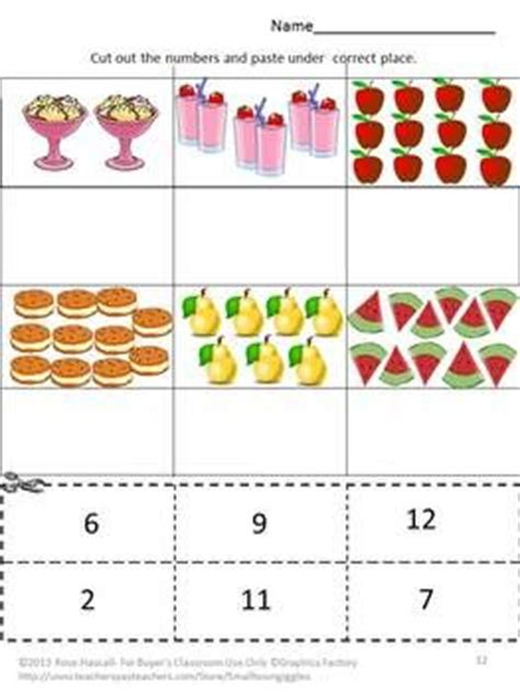 17 Best Images About Preschool Counting And Numbers On Pinterest  Cut And Paste, Activities And
