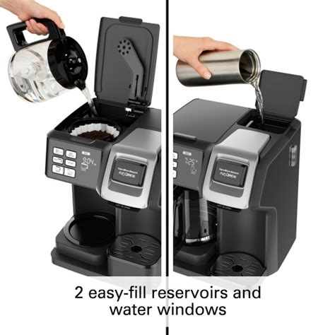 The two way brewer. this reasonably priced machine (it retails for around the $65 mark) has some great features including a hamilton beach 49980a coffee maker. Hamilton Beach FlexBrew 2-Way Coffee Maker, Single Serve ...