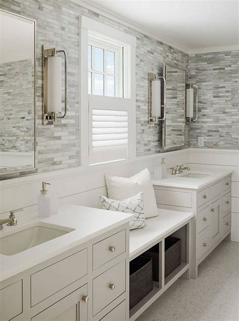 Shiplap For Bathroom Walls by Calming Master Bathroom With Shiplap And Tile Walls A