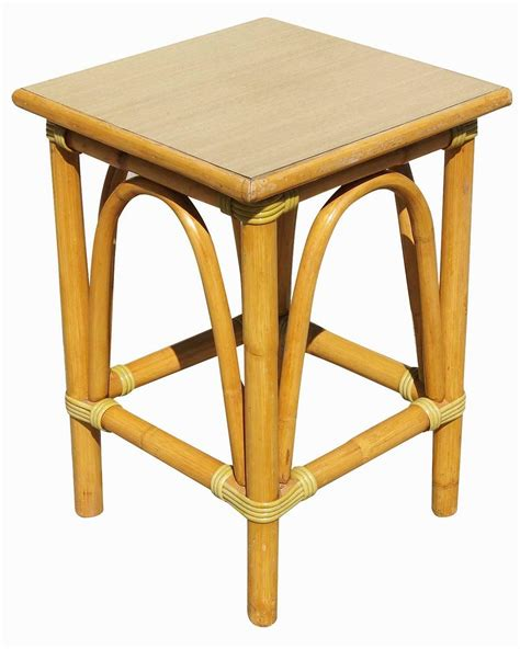 small wicker side table small rattan side table with arched sides for sale at 1stdibs