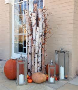 Fall Decorating with Birch Branches