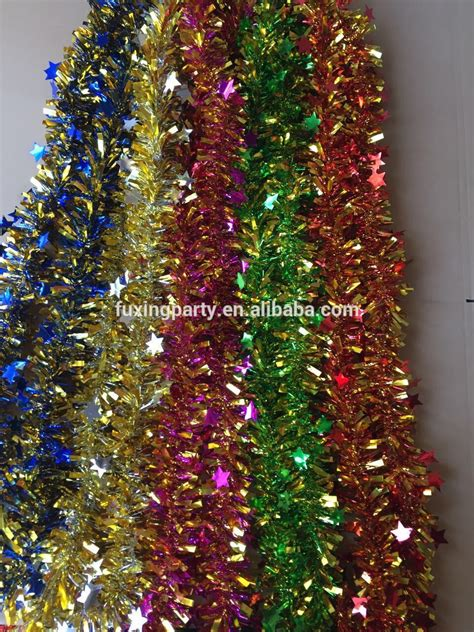 christmas tree tinsel garland merry christmas and happy