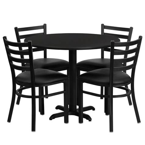 cafe restaurant table chair set 36 quot table 4 chairs