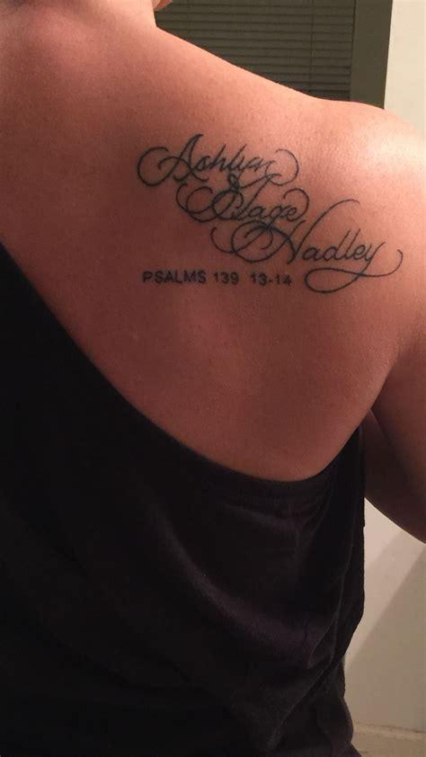 tatouage prenom femme my names tattooed on my back shoulder it tattoos