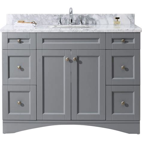 virtu usa elise    bath vanity  gray  marble
