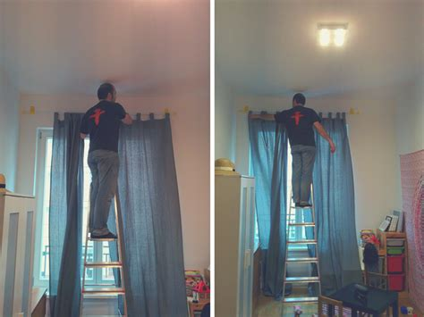 hang curtains without drilling how to hang things from ceiling without drilling avie