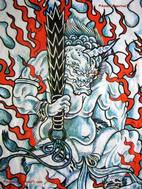 japanese fire demon japan irezumi tattoo long sleeve