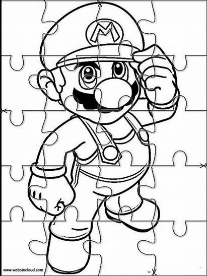 Puzzles Printable Mario Cut Jigsaw Bros Puzzle
