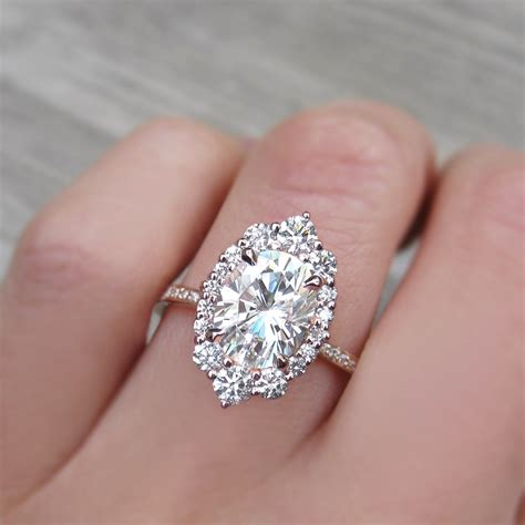 vintage engagement rings for sale forever one moissanite engagement ring with halo