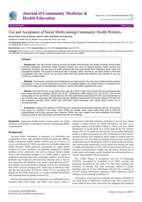 journal  community medicine health education