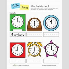 Telling Time To The Hour  Worksheet Educationcom