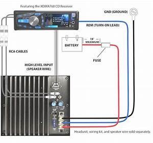 Wiring Diagram Subwoofer Amp