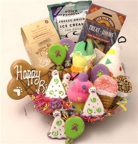 dog birthday gift baskets full  delicious treats