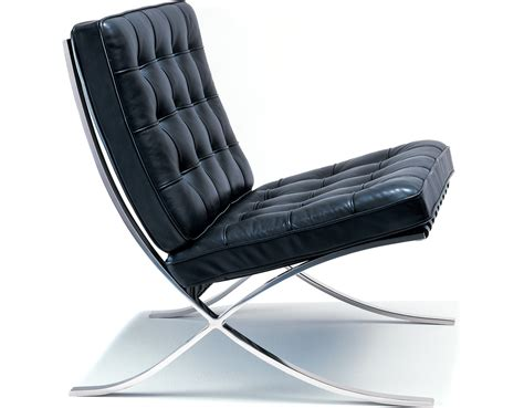 barcelona chair polished stainless hivemodern