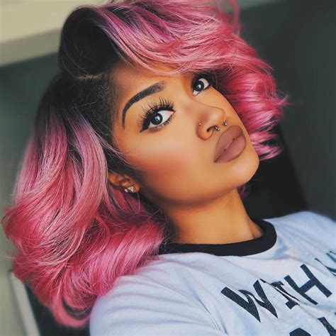 Pink Hairstyles Light And Dark Pink Highlights Ideas