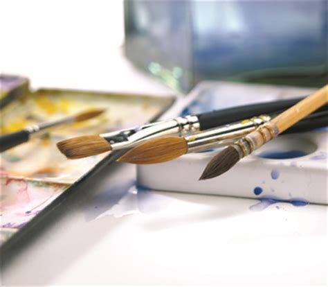 artists their brushes